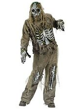 "Mens Skeleton Zombie Gruesome Scary Halloween Fancy Dress Size ML Upto 44"" Chest"