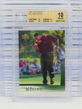 2001 Upper Deck Golf Tiger Woods Rookie Card RC #1 BGS 10 PRISTINE (30) R72