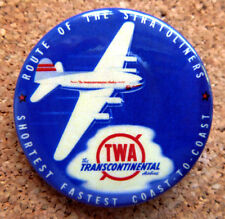 1950s TWA Airline Design Button Pin Back Airplane Modernist Mid-Century (#4)