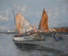 Ölgemälde Ölbild alt antik Romantik Impressionismus Meer See Landschaft 1900
