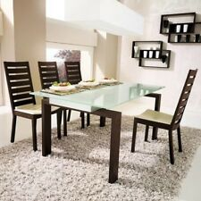Calligaris Action Dining Table Italian Designer Top Frosted Legs walnut RRP£1950