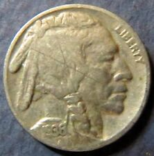 Vintage 1936 INDIAN HEAD/BUFFALO NICKEL, Fine Details, Philadelphia Mint Coin #5