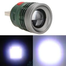 3W Beam LED Flashlight Head Lamp Light Zoomable Torch Power Bank With USB Port