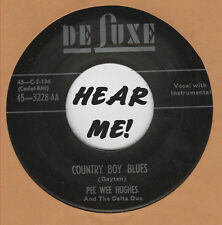 R&B REPRO: PEE WEE HUGHES -Country Boy Blues/EDDIE BURNS-Hello Jessie Lee DELUXE