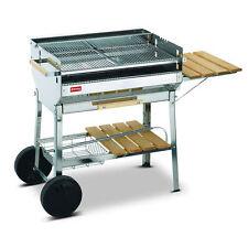 Barbecue Ferraboli euro acciaio inox braciere legna carbonella griglia 227 Rotex