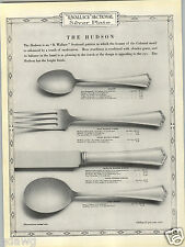 1923 PAPER AD 3 PG 1835 R Wallace Silverware The Hudson Design Pattern