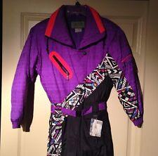 Vintage 90's Neon Ski Suit Purple Pink  Women's 6