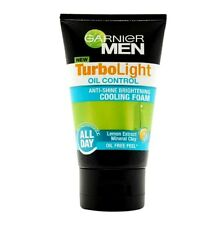 100 ML Garnier Men Turbolight oil Control Cooling Foam Anti - Shine Brightening