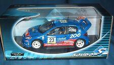 1:18 Peugeot 206 WRC 2002 - Rovanperä - blau - Solido - NEU in ungeöffneter OVP
