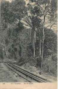 SUPERB RARE POSTCARD - E.F. CORCOVADO - RIO DE JANEIRO - BRAZIL C.1918 Railway