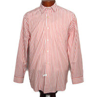 Tommy Bahama Mens Size Large Long Sleeve Button Down Shirt Striped Orange White
