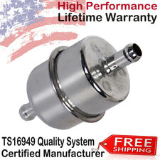 """Universal 9746 Chrome Plated Canister Fuel Filter inline 3/8"""" ID 3.85 x 1.71 NEW"""