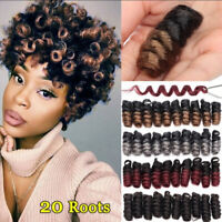 10 Inch Curl Crochet Braids Faux Locs Curly Braiding Synthetic Hair Extensions