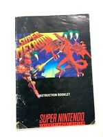Super Metroid - Authentic Super Nintendo SNES Manual Instruction Booklet ONLY