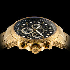 Louis XVI Men's Palais Royale Gold/Carbon Stainless Steel SwissMade Quartz Watch