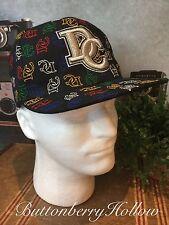 Washington DC Flat Bill Hat Black Sports Wear Embroidered DC Logo Sz S