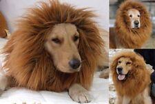 NEW Pet Costume Lion Mane Wig for Dog Halloween SandaClothes Festival Dress up