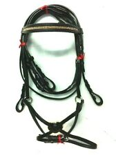 Export Leather English Maxican / Figure 8 Bridle With Chain Pony Free Reins