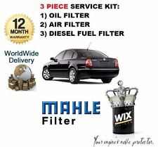 FOR VOLKSWAGEN VW PASSAT 2.5 TDi 2000-2005 OIL AIR FUEL (3) FILTER SERVICE KIT