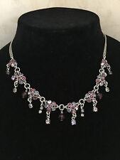 A0833 A Pilgrim Danish Design Necklace comprised of florets and drops set