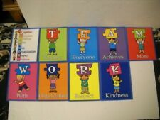 Really Good Stuff Teamwork Character Traits 9 Piece Laminated Set 2003 New Rare!