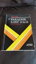 JOHN MILTON - YORK NOTES - NOTES ON PARADISE LOST IV & IX - IN LINGUA INGLESE