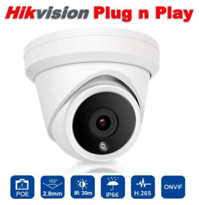 Hikvision Compatible 5MP IP Camera POE Full Color Night H.265 WDR Home with mic
