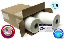 "[2 Rolls] Doculam Hot Laminating Film 12"" x 500' x 1"" core 1.5 Mil American Made"