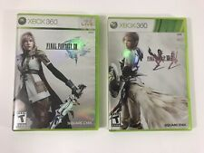 Final Fantasy XIII & XIII 2 XBOX 360 FF 13 Fast Shipping TESTED and WORKING