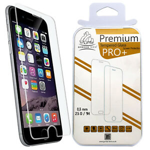New Genuine Gorilla Tempered Glass Screen Protector Shield for iPhone 8