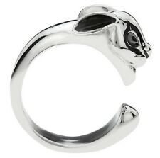 PEWTER BUNNY RING ONE SIZE FITS MOST CHARMING WRAP AROUND RABBIT FASHIONABLE FUN