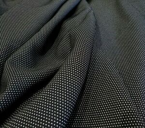 Woven Polyester Jersey 'Black', (per metre) dress fabric