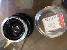 Rare Black Zeiss Contarex 25mm F2.8 Lens W/ Case Pristine Condition !