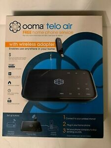 Ooma 892943002971 TELO Air VoIP Home Phone Service With Wireless Adapter