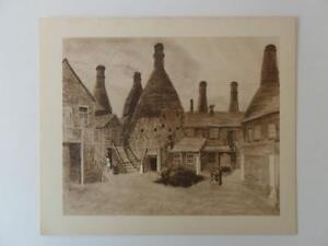 Bottle Kiln Wedgwood Works Etruria Staffs Louisa Puller 1946 Print