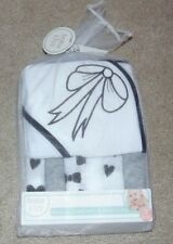 ~NEW Girls BABY KISS Bows & Hearts Hooded Towel & 6 Wash Cloths! Cute FS:)~