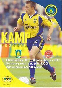 Brondby IF v Aberdeen 15 Jul 2001