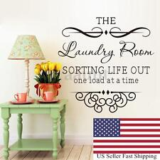 The Laundry Room Quote Removable Words Wall Stickers Decal Home Kitchen Decor