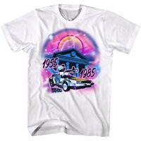 Back to The Future DeLorean Airbrush Grafitti Men's T Shirt Color Pop Art Movie
