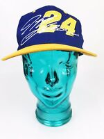 Jeff Gordon Nascar #24 Official Snapback Racing Hat Adjustable Blue Yellow Cap