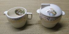 Limoges American Triumph D'OR Sugar bowl and Creamer Vintage China 1940's