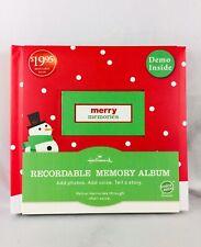 New Hallmark Recordable Holiday Memory Photo Album Audio Book