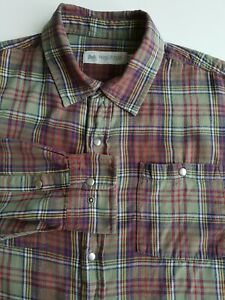 Windrover Plaid Flannel Shirt Grey/Red Check Cotton Grunge *2XL*TR69