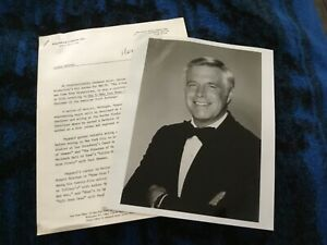 George Peppard Actor A-Team Original Vintage 8X10 Publicity Photo & Bio
