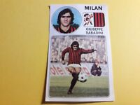 GIUSEPPE SABADINI MILAN Figurina ALBUM CALCIATORI PANINI 1976/77 n°198 rec