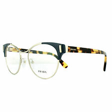 Prada Glasses Frames PR61TV VAY1O1 Pale Gold Blue 52mm Womens