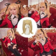 For Kakegurui Mary Saotome Meari Blond Ponytail Cosplay Ponytail Double Wig A1M2