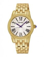 Seiko Neo Classic SRZ440 P1 Gold/White Dial Women's Quartz Analog Watch