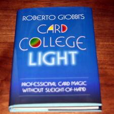 Card College Light by Roberto Giobbi Pro Self Working Card Tricks Magic