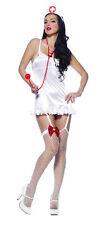 Nurse Kit Adult Women's Costume Hat With Red Bow Leg Garter Leg Avenue